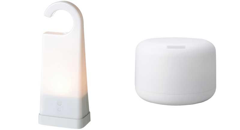 左:ランタン 右:加湿器