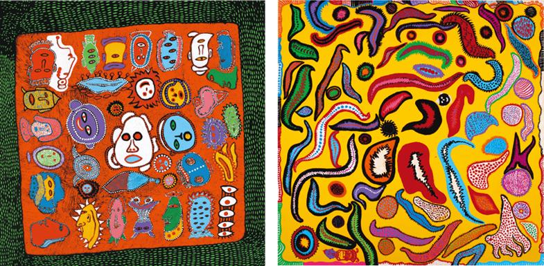 (左)「わたしは漫画家になりたい」2015年 (右)「しのびがたい愛の行方」2014年