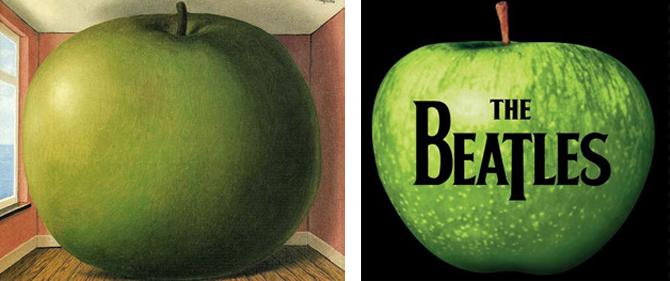 ビートルズのアップルレコードのロゴはマグリットの作品から着想を得た