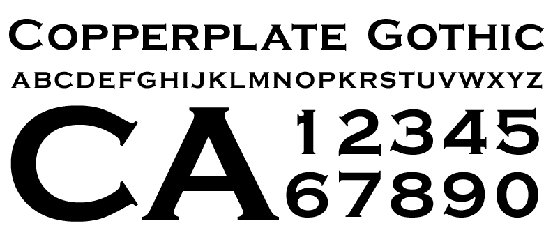 Copperplate Gothic