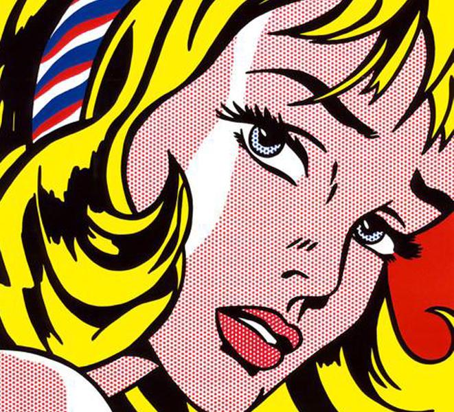 ロイ・リキテンシュタイン「ヘアリボンの少女」(1965年)