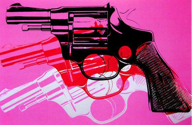 アンディー・ウォーホル「拳銃」