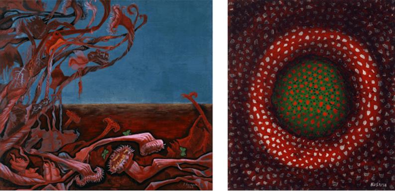 (左)「残夢」1949年 (右)「太陽」1953年