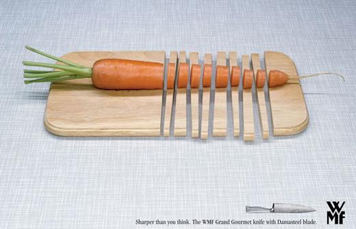 ナイフの広告