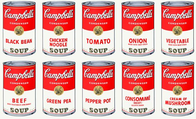 アンディ・ウォーホル「キャンベルのスープ缶」1962年